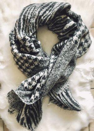 Zara Bufanda de punto negro-gris claro