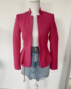 ❤️ ZARA XS 34 Blazer Pink Volants Jacke ❤️