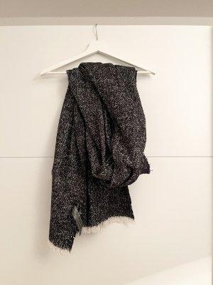 Zara Accesoires Bufanda de lana negro-blanco