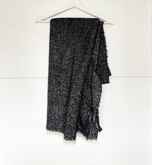 Zara Accesoires Écharpe en tricot noir-blanc