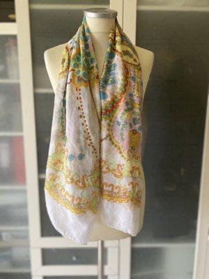 Zara Accesoires Silk Cloth white-dark orange