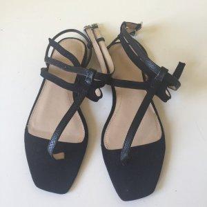 Zara Dianette Sandals black suede