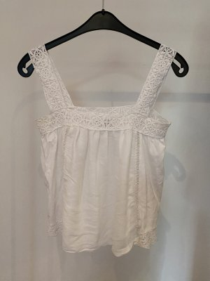 Zara Haut en crochet blanc-blanc cassé