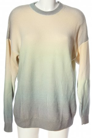 Zara Warkoczowy sweter w kolorze białej wełny-niebieski Gradient