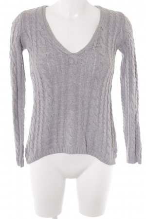 Zara Cable Sweater light grey cable stitch casual look