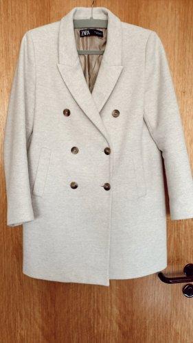 Zara zweireihiger Mantel   hellbeige   Gr. M