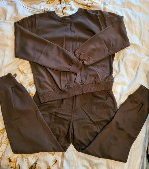 Zara Jersey twin set bruin