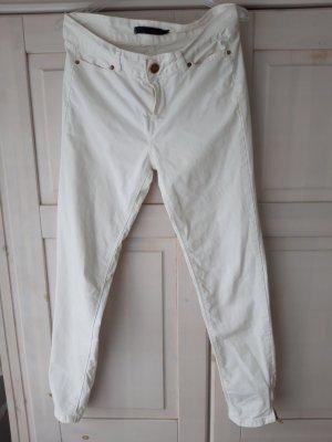 Zara Tube Jeans white