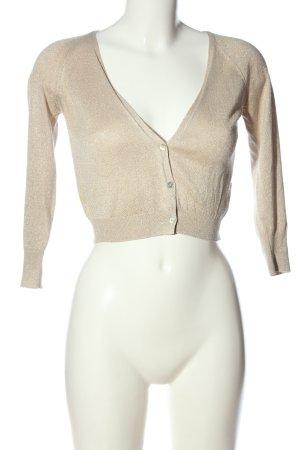 ZARAKNIT Kardigan w kolorze białej wełny W stylu casual