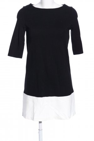 ZARAKNIT Jerseykleid schwarz-weiß Casual-Look