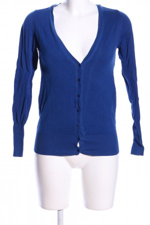ZARAKNIT Strick Cardigan blau Casual-Look