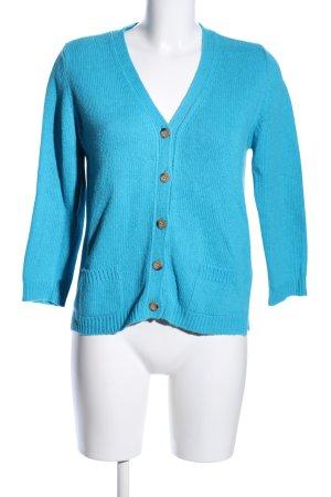 ZARAKNIT Strick Cardigan blau Casual-Look