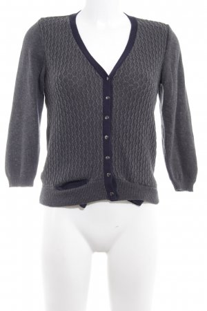 ZARAKNIT Strickjacke dunkelgrau Casual-Look