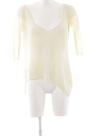 ZARAKNIT V-Ausschnitt-Pullover blassgelb Casual-Look