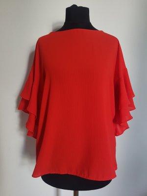H&M Camicetta con arricciature rosso chiaro-rosso