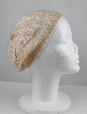 H&M Bonnet en crochet beige-beige clair acrylique