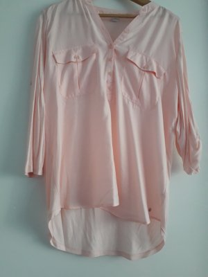 Blouse brillante rosé