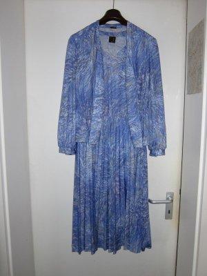 Szyfonowa sukienka błękitny Poliester