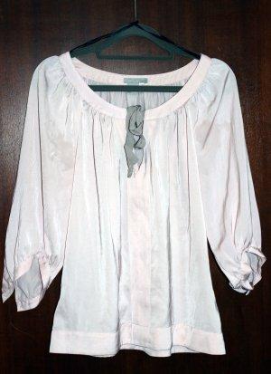 H&M Blouse brillante rose clair-gris clair polyester