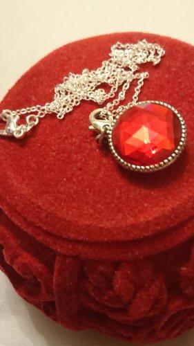 Pilgrim Collier zilver-rood