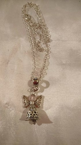 Collier Necklace silver-colored-light pink