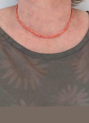 no name Collar de perlas albaricoque tejido mezclado