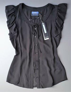 Zarte, leicht transparente Bluse in schwarz