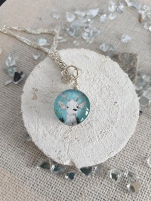 Boutique Ware Zilveren ketting zilver-azuur