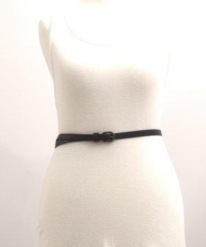 Cinturón de cuero de imitación gris antracita