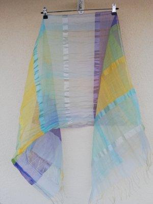 zarter, transparenter Schal in Sommerfarben