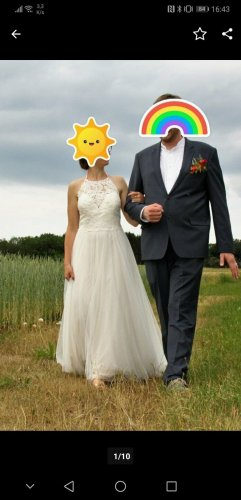 WILLOW Wedding Dress natural white silk