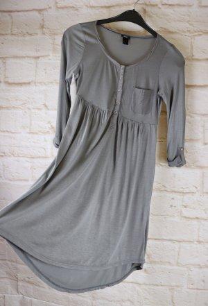 Zartes Jerseykleid Sommerkleid H&M Größe XS 34 Grau Blusenkleid Langarmkleid Jersey Strandkleid VoKuHiLa