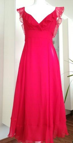 Mango Chiffon Dress red silk