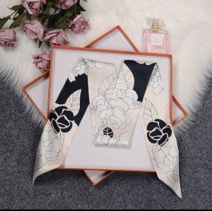 Zartes Rosé mit dezent dunklen Blumen Halstuch, Damenkrawatte,Haarband Masche