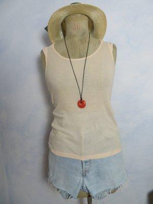 Strenesse Camiseta sin mangas albaricoque-nude Algodón