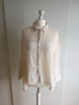 Zartrosa Oversize-Bluse