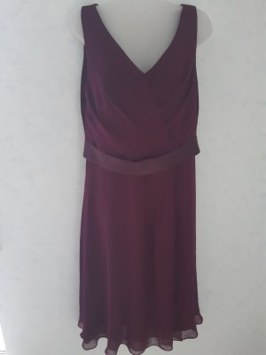 Chiffon Dress blackberry-red silk