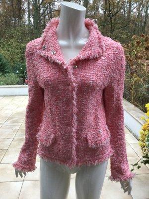 Escada Blazer en laine rose-blanc
