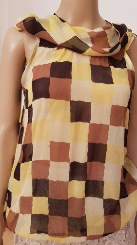 René Lezard Silk Blouse multicolored silk