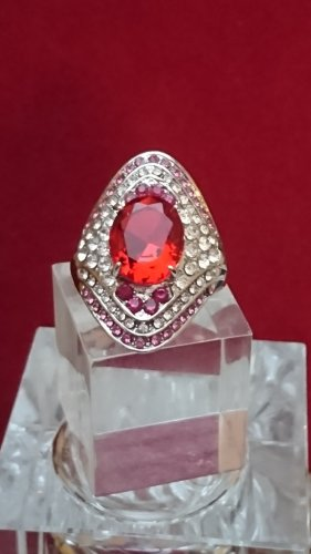 Ring with Decorative Stone multicolored