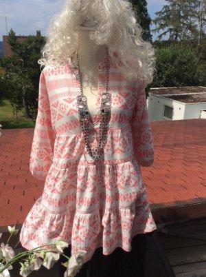 Be only Sukienka boho łosowiowy-kremowy