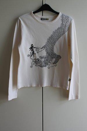 SMOG Crewneck Sweater black-white cotton