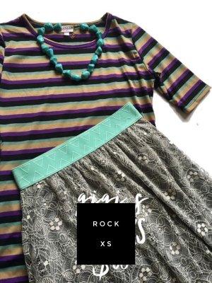 Falda de encaje multicolor