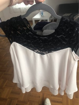 Taily Weijl Frill Top black-white