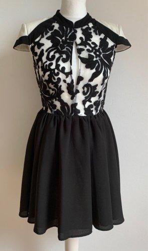 Cameo Mini Dress white-black polyester