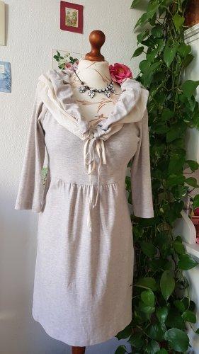 Qiero Robe Sweat beige clair-blanc cassé coton