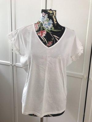 Review V-Neck Shirt white