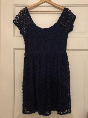 Zauberhaftes Zara Sommerkleid Spitze Blau S