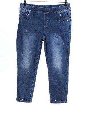 Zauberhose Jeans a 7/8 blu stile casual