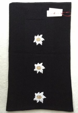 Zaubermasche Sciarpa in cashmere bianco-nero